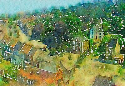 Photograph - Ghent In Watercolor by Susan Maxwell Schmidt
