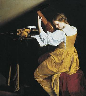 Gentileschi, Orazio Lomi 1565-1638. The Art Print by Everett