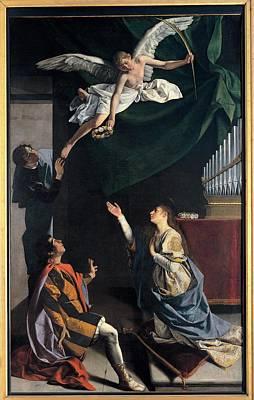Gentileschi Orazio, Sts Cecilia Art Print