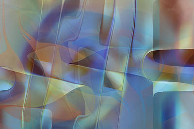 Digital Art - Gentle Blue by rd Erickson