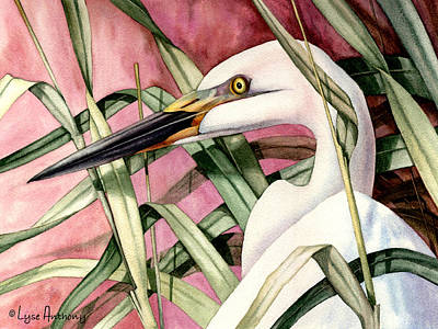 Egret Painting - Gentle Breeze by Lyse Anthony
