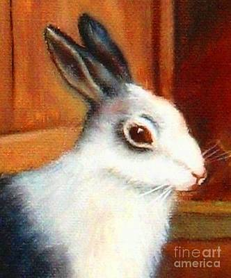 Painting - Gentle Bunny by Hazel Holland