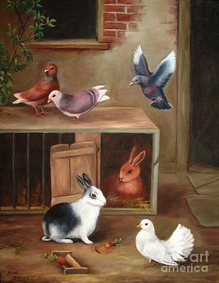 Painting - Gentle Creatures by Hazel Holland