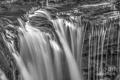 Photograph - Gentle Falls In Bw by Paul W Faust -  Impressions of Light