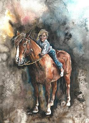 Painting - Gentle Friend by Kim Sutherland Whitton