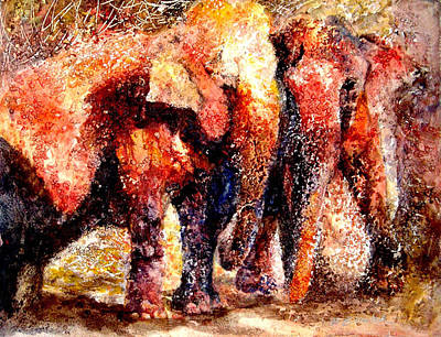 Wall Art - Mixed Media - Gentle Giants by Beverly Berwick