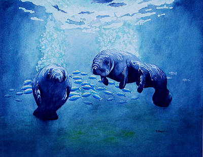 Painting - Gentle Giants by Norman Freyer