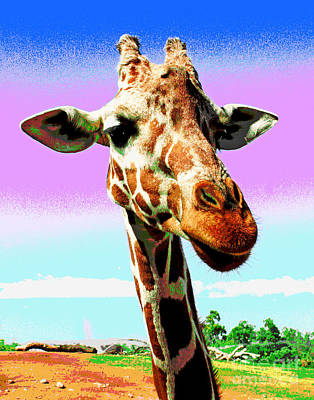 Photograph - Gentle Giraffe by Larry Oskin
