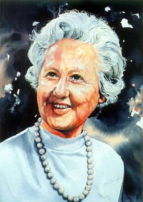Hand-painted Portraits Painting - Gentle Grandmother Portrait by Hanne Lore Koehler
