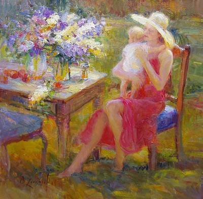 Newton Painting - Gentle Love by Diane Leonard