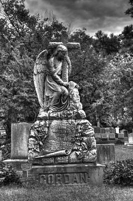 Elmwood Cemetery Photograph - Gentle Man- Black And White by Shannon Louder
