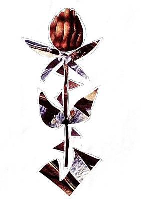 Xerox Mixed Media - Gentle Man Hand Flower by Debra Amerson