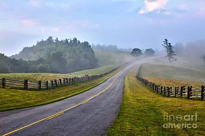 Split Rail Fence Photograph - Gentle Morning - Blue Ridge Parkway by Dan Carmichael