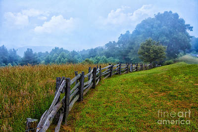 Gentle Morning - Blue Ridge Parkway I Art Print