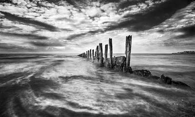 Groyne Photograph - Gentle Swirl  by Ian Hufton