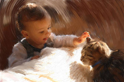 Loving Touch Painting - Gentle Touch by Ben Thompson