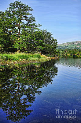 Photograph - Gentle Walks Around Rydal Water Cumbria by Graham Hawcroft pixsellpix