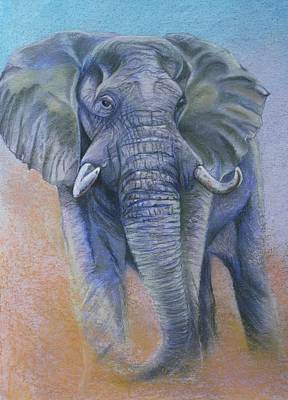 Wild At Heart Painting - Gentle Warning by Linda Harrison-parsons