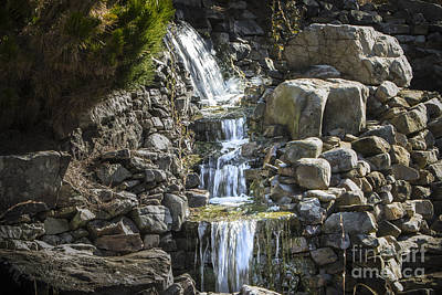 Photograph - Gentle Waterfall by Michael Waters