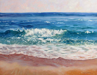 Contemplative Painting - Gentle Wave by Bonnie Mason