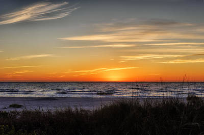 Southwest Florida Sunset Photograph - Gentle Wave Sunset by Frank J Benz