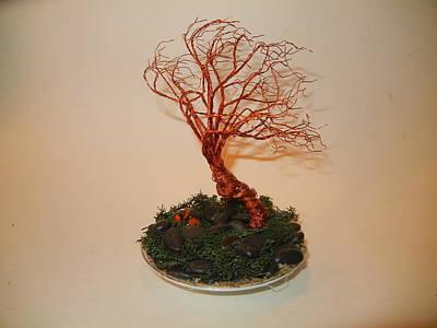 Copper Beads Sculpture - Gentlebreeze by Joyce  McCormick-Mabry