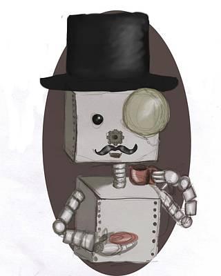Bot Digital Art - Gentleman Bot by Stacy Parker