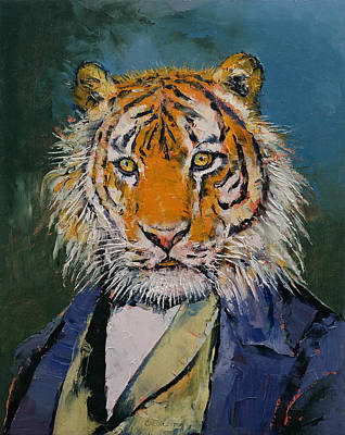 Faces Painting - Gentleman Tiger by Michael Creese