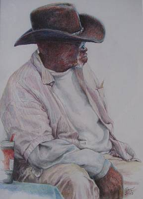 Painting - Gentleman Wearing The Dark Hat by Sharon Sorrels
