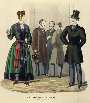 Adornment Photograph - Gentleman's Fashion by British Library