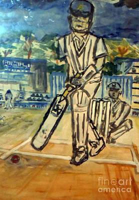 T- Ball Painting - Gentlemans Game-cricket by Ayyappa Das