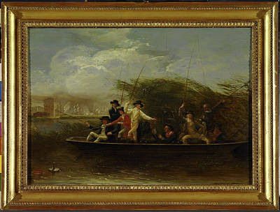 1794 Painting - Gentlemen Fishing The Fishing Party - A Party Of Gentlemen by Litz Collection