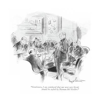 Kemp Drawing - Gentlemen, I Am Convinced That Our Next New by Kemp Starrett