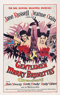 Gentlemen Marry Brunettes, Us Poster Art Print by Everett