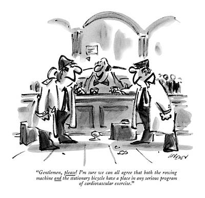 1984 Drawing - Gentlemen, Please! I'm Sure We Can All Agree That by Lee Lorenz