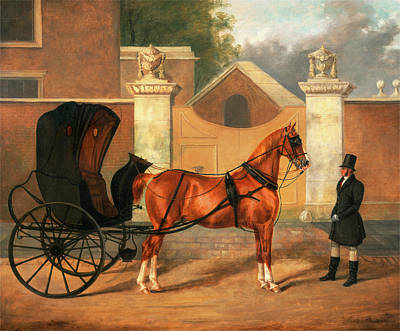 Cabriolet Painting - Gentlemens Carriages A Cabriolet, Charles Hancock by Litz Collection