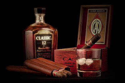 Aged Photograph - Gentlemen's Club Still Life by Tom Mc Nemar