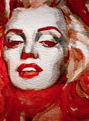 Marylin Painting - Gentlemens Prefer Blondes by Laur Iduc