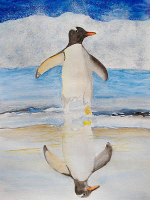 Painting - Gentoo Penguin by Patricia Beebe