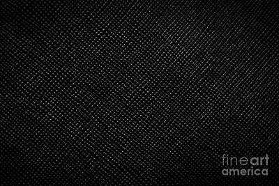 Wrinkle Photograph - Genuine Black Leather Background by Michal Bednarek