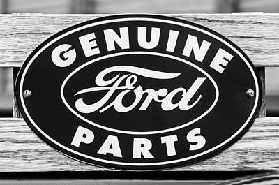 Photograph - Genuine Ford Parts Sign by Jill Reger
