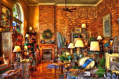 Southern Pottery Photograph - Genuine Georgia Store In Greensboro Ga by Reid Callaway