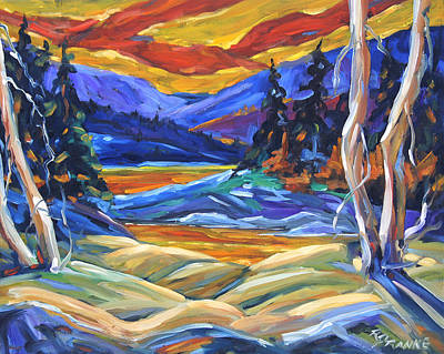 Canadiens Painting - Geo Landscape II By Prankearts by Richard T Pranke