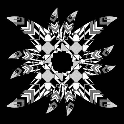 Digital Art - Geo Matrix Black And White 1 by Brian Johnson