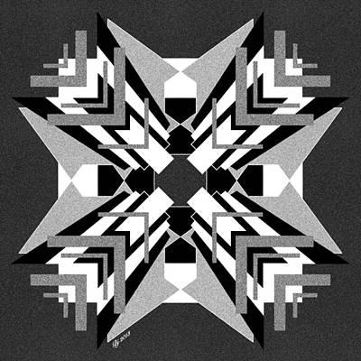 Digital Art - Geo Matrix Tile Print 2 by Brian Johnson