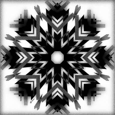 Digital Art - Geo Matrix Tile Print 3 by Brian Johnson