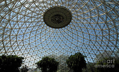 Geodesic Dome Digital Art - Geodesic Dome Ceiling Of The Mitchell Park Domes by Glenn Morimoto
