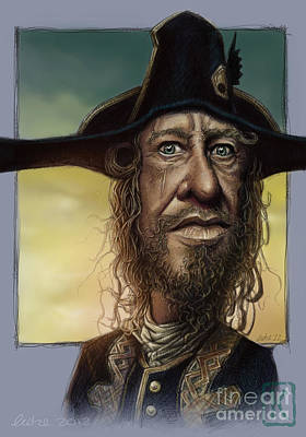 Digital Art Digital Art Drawing - Geoffrey Rush by Andre Koekemoer