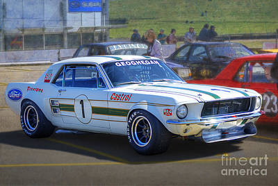 Muscle Car Masters Photograph - Geoghegan's Mustang by Stuart Row