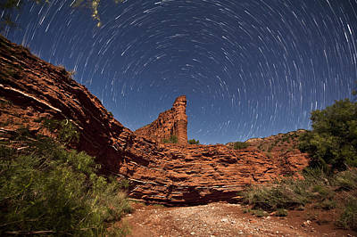 Startrails Photograph - Geology And Space by Melany Sarafis